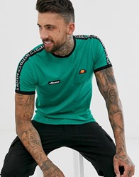 Ellesse Fede T Shirt With Taping In Green