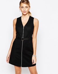 Oasis Utility Zip Front Dress Black