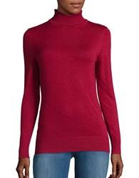Context Long Sleeve Turtleneck Sweater Crimson