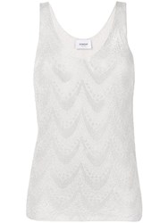 Dondup Embroidered Tank Top Grey