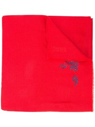 Janavi Koi Fish Embroidered Scarf