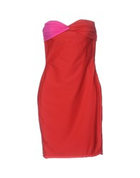 Space Style Concept Short Dresses Red
