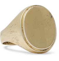 Foundwell Vintage Gold Tone Signet Ring Silver