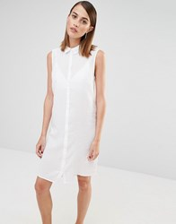 Selected Crissie Sleeveless Shirt Dress Snow White
