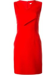 Carven Sleeveless Fitted Dress Red