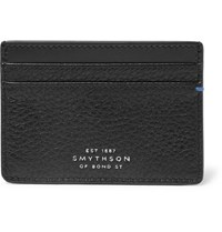 Smythson Burlington Two Tone Full Grain Leather Cardholder Black