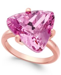 Charter Club Rose Gold Tone Pink Stone Cocktail Ring Only At Macy's