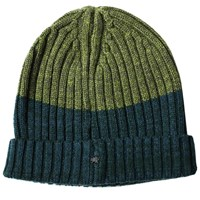 Lords Of Harlech Benny Beanie In Hunter And Olive Green