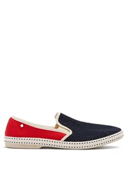 Rivieras Tour Du Monde Slip On Canvas Loafers Red Multi
