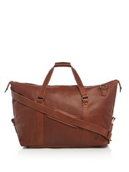 Lyle And Scott Leather Holdall Tan