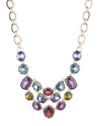 Anne Klein Multi Hue Faceted Stone Necklace