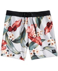 Rusty Tropical Print Swim Trunks