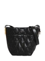 Givenchy Mini Gv Quilted Leather Bucket Bag Black