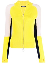 J. Lindeberg J.Lindeberg Colour Block Zipped Cardigan Yellow