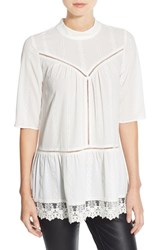 Leith Women's Lace Hem Peasant Tunic