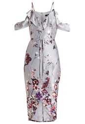 Missguided Floral Summer Dress Grey