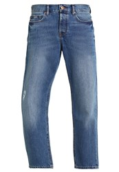 Kiomi Straight Leg Jeans Mid Blue Light Blue Denim