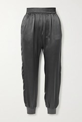 Cami Nyc The Sadie Silk Charmeuse Track Pants Gray