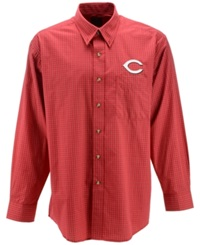 Antigua Men's Long Sleeve Cincinnati Reds Button Down Shirt