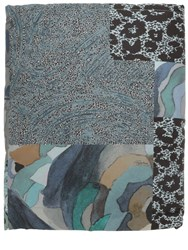 Roberto Cavalli Faraqa Printed Cotton Throw Blue