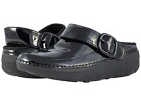 Fitflop Goghtm Pro Superlight Black Patent Clog Shoes