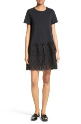 Kate Spade Women's New York Eyelet Flounce Knit Shift Dress