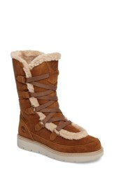 Timberland Women's Kenniston Faux Fur Water Resistant Mukluk Boot Medium Brown Suede