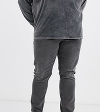 Only And Sons Skinny Fit Cropped Raw Edge Jeans In Grey Wash
