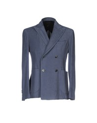 Gran Sasso Suits And Jackets Blazers Slate Blue