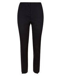Jaeger Wool Narrow Leg Trousers Navy