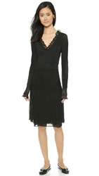 Wgaca Chanel Long Sleeve Knit Dress Black