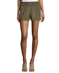 Haute Hippie Suede High Rise Shorts Military Women's