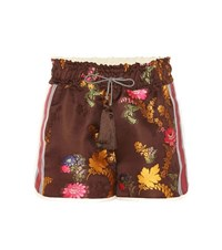 Etro Embellished Shorts Brown