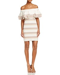 Endless Rose Off The Shoulder Fitted Knit Dress 100 Bloomingdale's Exclusive Cream Multi Color