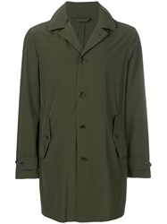 Aspesi Single Breasted Coat Green