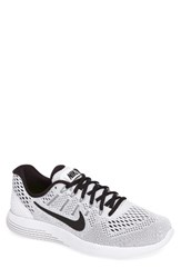 Nike Men's 'Lunarglide 8' Running Shoe White Black