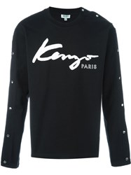 Kenzo Signature Studded Sweatshirt Black