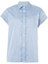 Golden Goose Deluxe Brand Striped Shortsleeved Shirt Blue