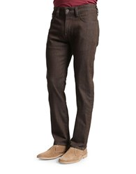 Heritage Charisma Comfort Rise Five Pocket Jeans Medium Brown