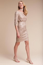 Anthropologie Shirene Wedding Guest Dress Nude