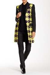 L.A.M.B. Large Houndstooth Topper Coat Multi