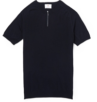 Incotex Cycling Slim Fit Wool Blend Polo Shirt Blue