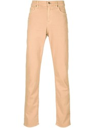 7 For All Mankind 'The Slimmy' Jeans Yellow And Orange