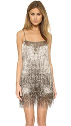 Rachel Zoe Della Fringe Metallic Mini Dress Copper