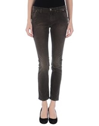 Heavy Rough Casual Pants Dark Brown