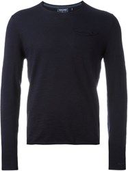 Woolrich Pocket Jumper Blue