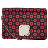 Orla Kiely Mini Sweet Pea Leather Flower Foulard Cross Body Bag Multi