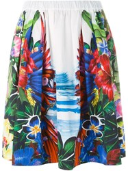 Dsquared2 Tropical Print Skirt Multicolour