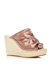Kenneth Cole Women's Odele Espadrille Wedge Slide Sandals Blush