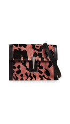 Hayward Mini Soft Clutch Pink Leopard Black